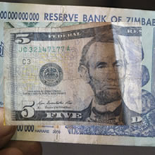 Dollars in Zimbabwe