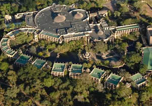 The Kingdom Hotel from the air
