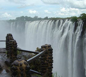 Viewing point for Victoria Falls