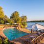 Pool at the David Livingstone facing onto the Zambezi